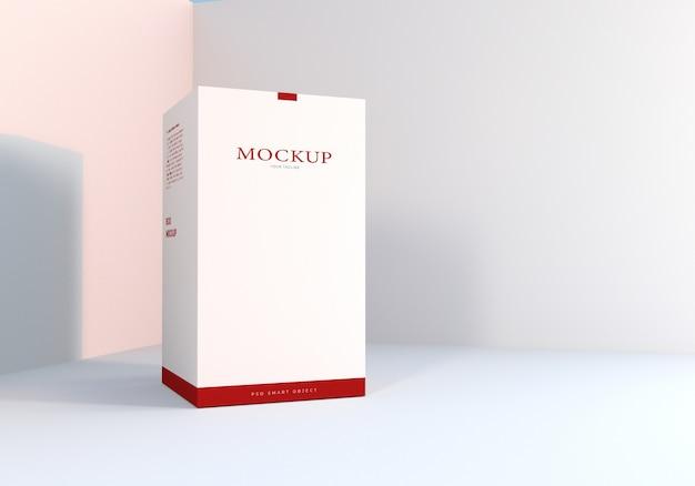 Scatola bianca confezione design mockup