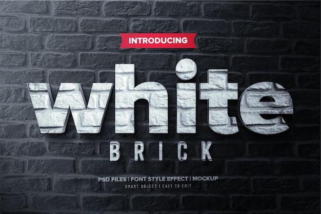 Effetto di testo premium in mattoni bianchi