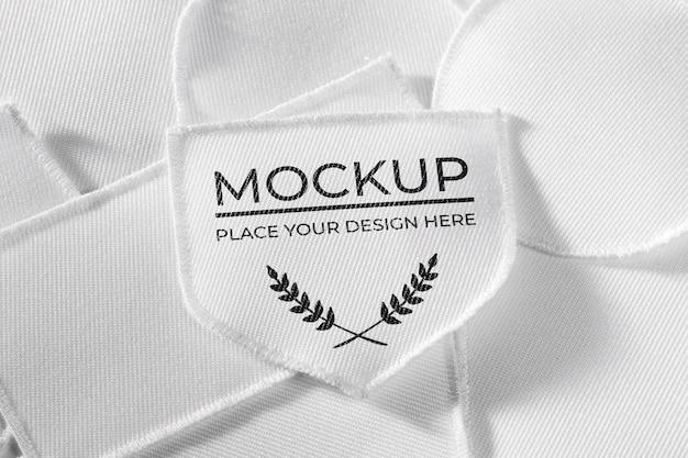 Mock-up tessile patch abbigliamento bianco