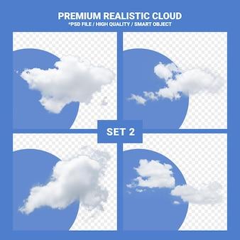 Rendering realistico dell'insieme della nuvola bianca