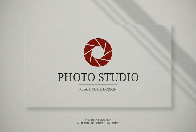 Mockup di logo bianco carta business card business card