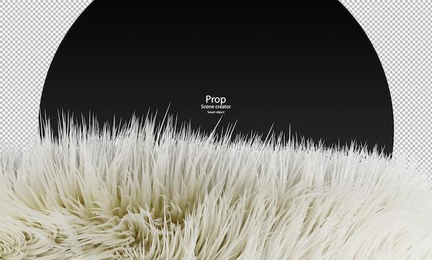 Percorso di ritaglio di pelliccia bianca pelliccia bianca isolata