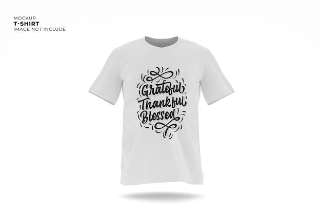 Mockup di t-shirt isolato bianco isolato
