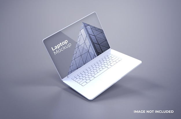 Mockup di macbook pro bianco