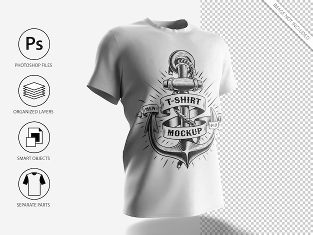 Mockup di t-shirt da uomo bianco