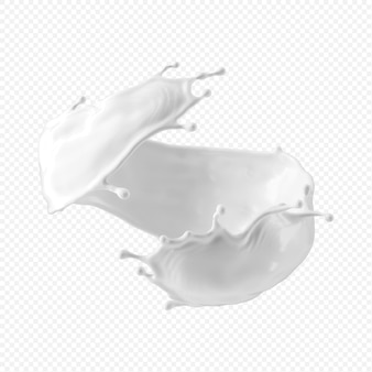 Spruzzata di latte bianco isolata