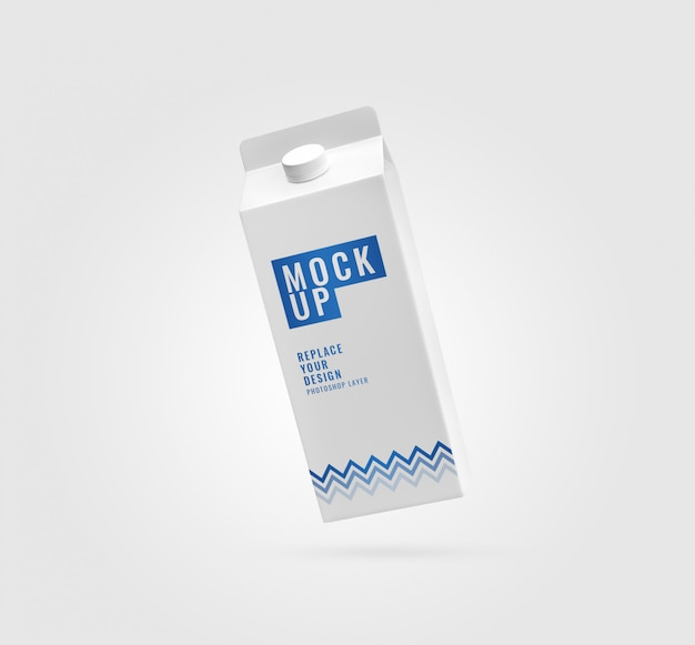 Mockup di scatola di carta bianca