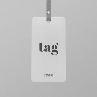 White tag label mockup design isolato