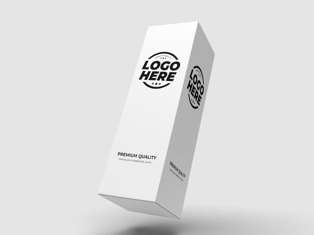 Mockup di pacchetto scatola alta bianca