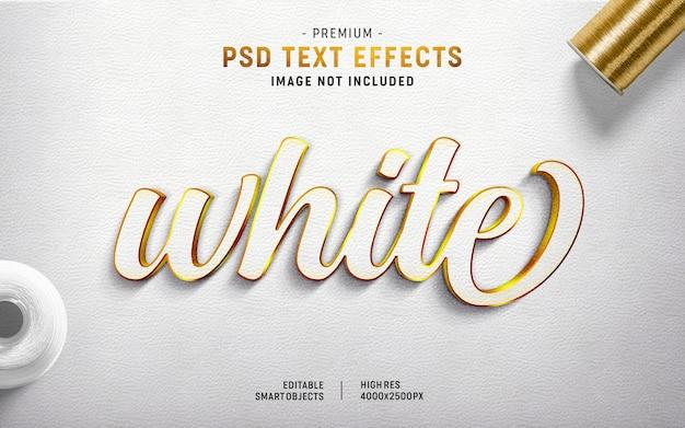 Generatore di effetti di testo bianco