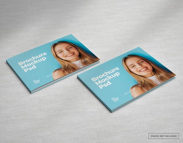 Ampio catalogo mockup di brochure, riviste e copertina di opuscoli