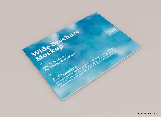 Ampia brochure mockup design isolato