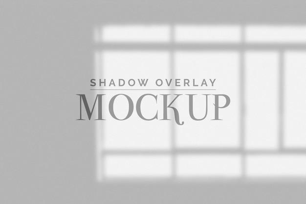 Mockup di sovrapposizione delle ombre delle finestre