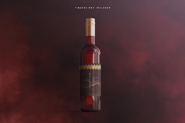 Mockup del marchio della bottiglia di vino Psd Premium