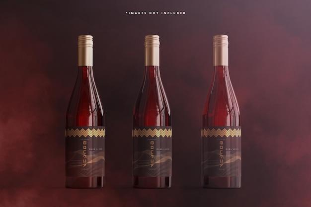 Mockup del marchio della bottiglia di vino