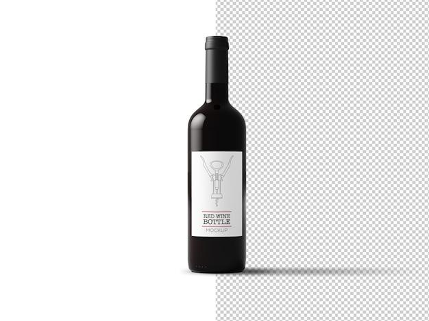 Mockup di etichetta bottiglia di vino isolato