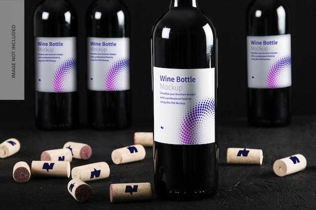 Etichetta della bottiglia di vino mockup