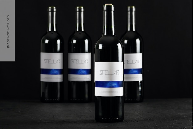 Mockup di bottiglie di vino