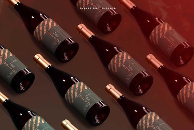Scena di mockup del marchio del vino
