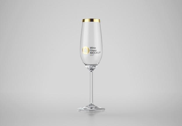 Mockup di bicchiere di vino