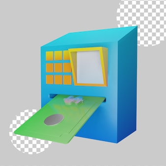 Wirhdraw concetto illustrazione 3d