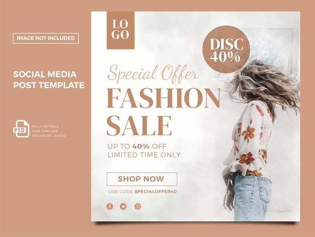 Social media moda donna post premium psd