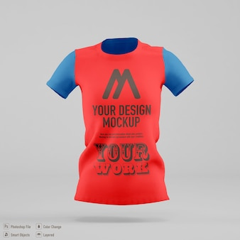 Design mockup t-shirt donna isolato
