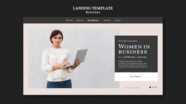 Donne nel modello di pagina di destinazione aziendale