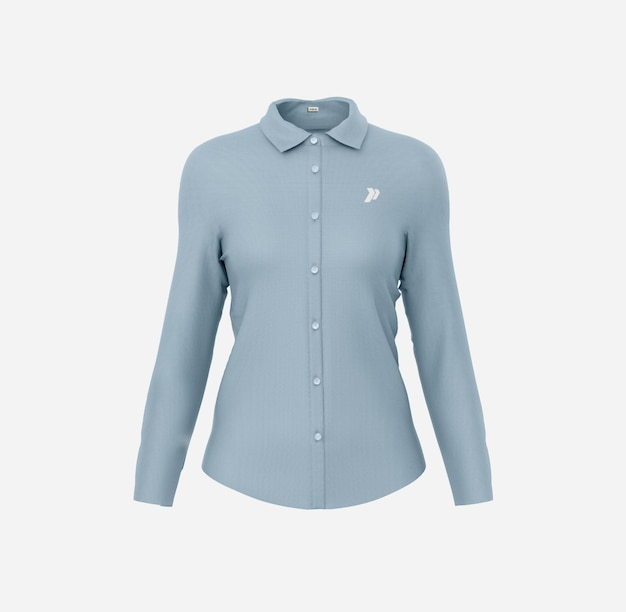 Donna camicia elegante mockup