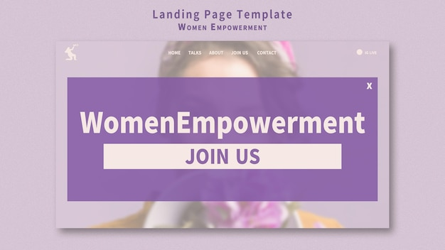 Pagina di destinazione per l'emancipazione delle donne