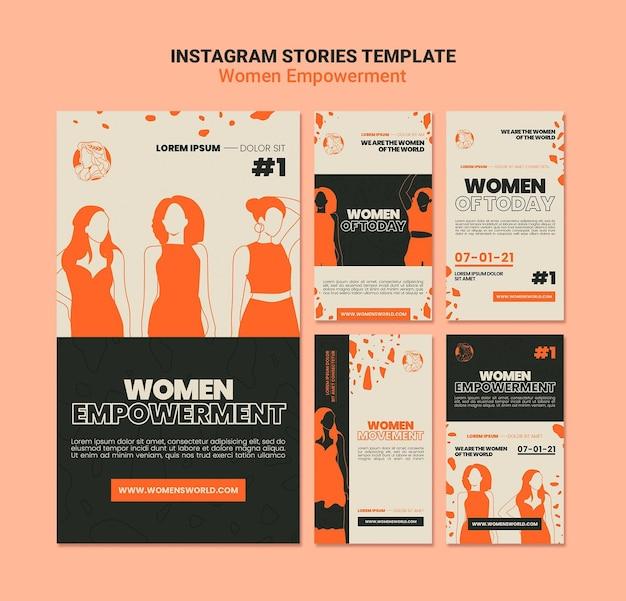 Storie sui social media sull'emancipazione femminile women