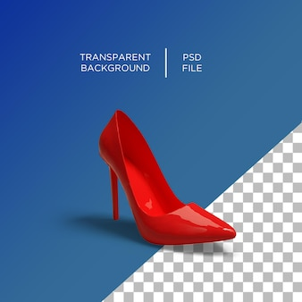 Donne tacco 3d rosso
