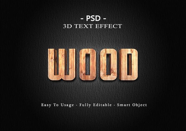 Effetto legno stile testo 3d