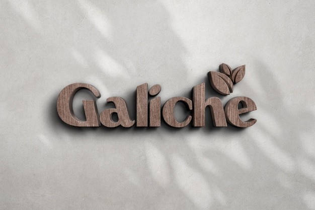 Modello di logo in legno