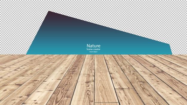 Pavimento in legno per tracciato di ritaglio di presentazione