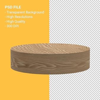 Rendering di podio in legno isolato