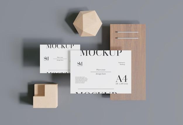 Design di mockup di levitazione stazionaria in legno