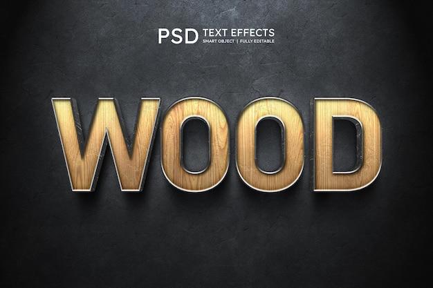 Effetto stile testo in legno