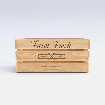 Mockup di cassa di legno