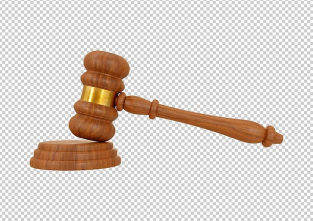 Martelletto di legno del giudice isolato