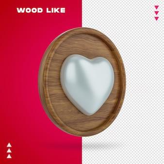 In legno come bolla nel rendering 3d isolato