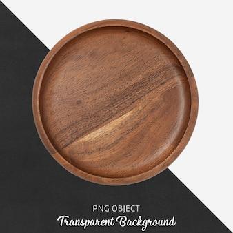 Piatto in legno su trasparente