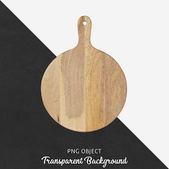 Tagliere in legno su trasparente