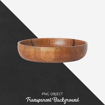 Piatto da portata in legno su trasparente
