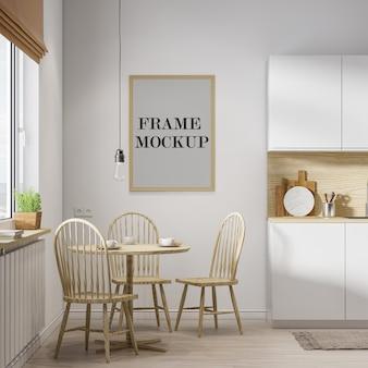 Modello di cornice per parete in legno in rendering 3d
