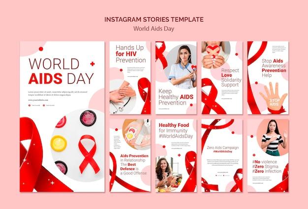Storie di instagram per la giornata mondiale contro l'aids