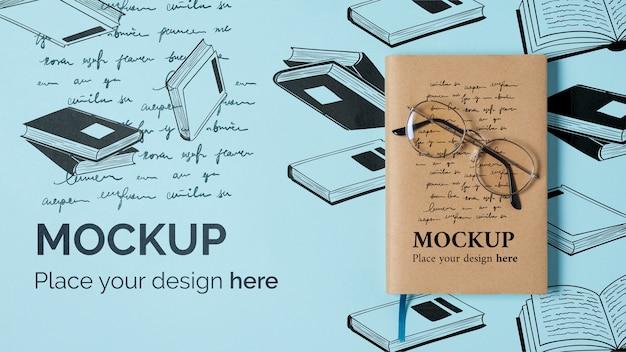 Mock-up di concetto di giornata mondiale del libro