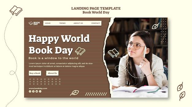 Modello di home page della giornata mondiale del libro