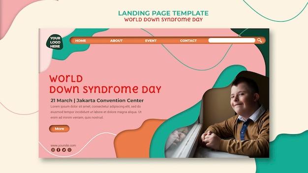 Pagina di destinazione della giornata mondiale della sindrome di down