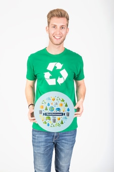 Mockup di giornata mondiale dell'ambiente Psd Premium